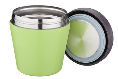 Mira Lunch, Food Jar, Vacuum Insulated, Stainless Steel, 10Oz, Green front-757653