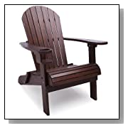 Classic Wood Adirondack Chair - Brown