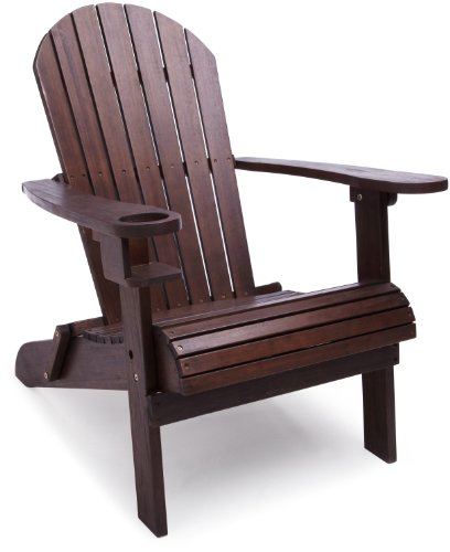 Strathwood Basics Adirondack Chair, Dark Brown