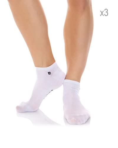 Pierre Cardin Pack x 3 Pares Calcetines Invisible Hilo Escocia Con Lycra Blanco