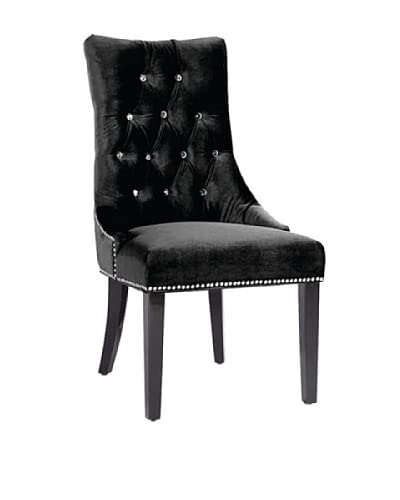 Armen Living Carlyle Side Chair, Black