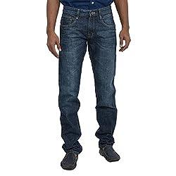 Inego Men's Cotton Slim Fit Jeans -Blue, (36)