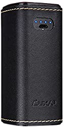 LUXA2 PL3 10400 mAh Leather Power Bank - Retail Packaging - Black