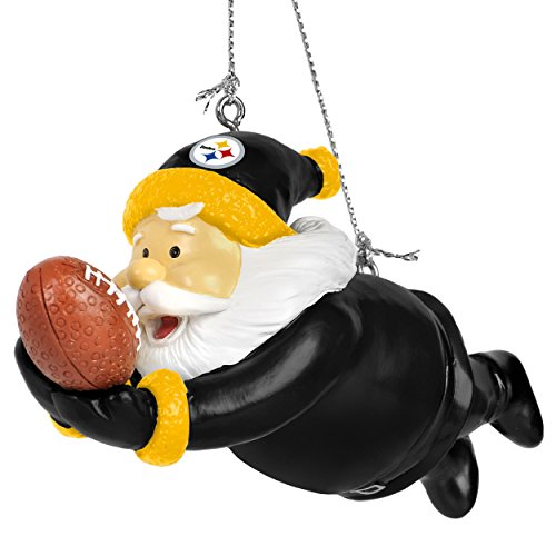 Team Beans Forever Collectibles Action Santa Ornament Steelers at SteelerMania