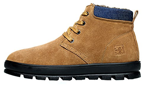 HUAHUI MULINSEN Men Snow Boots Keep Warm Outdoors Toe Shoes