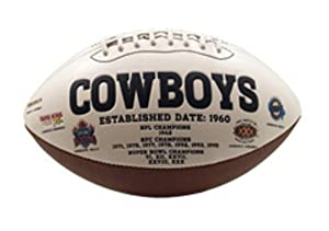 NFL Dallas Cowboys Signature Series Team Full Size Footballs by The License Products Company