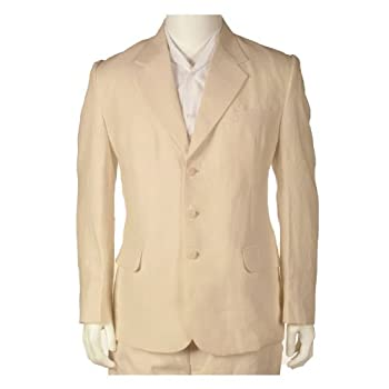 Final sale 100 % linen suit - pure light beige