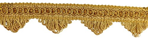 11 Yard Value Pack Of Decorative Gold Scallop Fringe Gimp Braid, 1.5 Inch, Style# Sf0150 Color: C4 (33 Ft.)