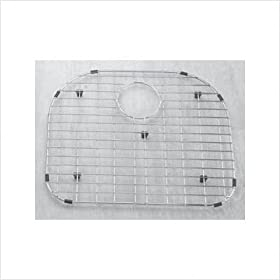 """19"""" x 16"""" Stainless Steel Sink Grid with Black Rubber Feet"""