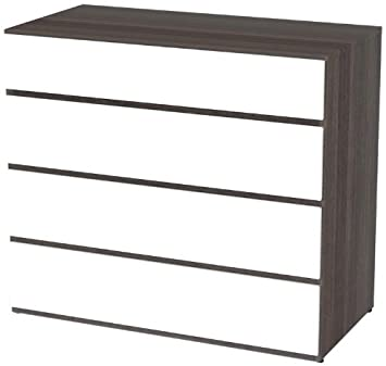 Nexera 223433 Allure/Atom 4-Drawer Chest, Ebony and White
