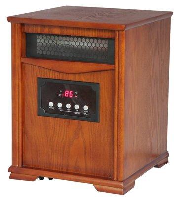 Shinerich Industrial Ltd Wi-0037 Westpointe, 1500W, Furniture Grade Wood With Dark Oak Finish, Infrared Heater