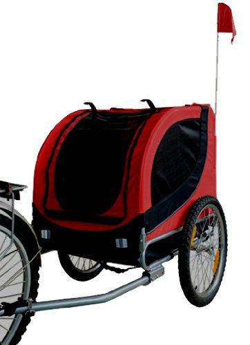 Mdog2 Mk0001 Comfy Pet Bike Trailer, Red/Black front-9320