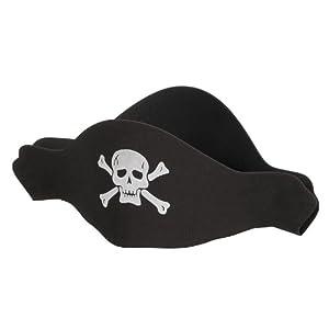 Chapeau Pirate en Mousse - Anniversaire Enfant - Goûter enfant - Déguisement Pirate
