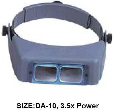 3.5X OPTICAL GLASS HANDS-FREE TILT-VISOR