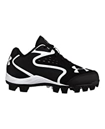 Under Armour Kids\' UA Clean Up Low RM Baseball Cleats 1.5 Black