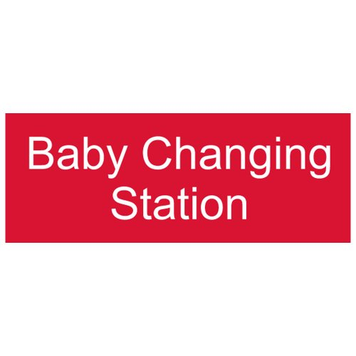 Compliancesigns Engraved Plastic Unisex / Family / Assisted Sign, 8 X 3 Red front-127797