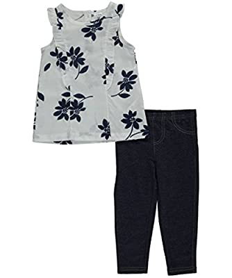 """Carter's Baby Girls' """"Poplin & Jeggings"""" 2-Piece Outfit"""