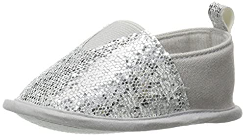 6. Luvable Friends Girl's Sparkly Slip-On Girl's Boat Shoe
