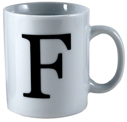 Oneida Porcelain Monogrammed Letter F Mug, Set of 6 (Oneida Coffee Cup compare prices)