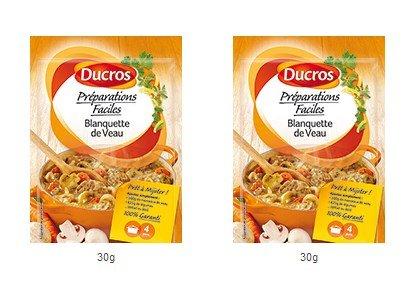 DUCROS - Solutions Cuisson - Preparations Faciles Pret a Mijoter - Blanquette de Veau - Blanquette de Veau - 30 g