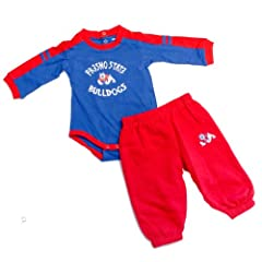 Fresno Bulldogs Officially Licensed Infant Long Sleeve Onesie And Pants Outfit