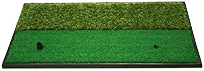 Dual-Surface Hitting/Practice, Chipping and Driving Golf Grass Mat with Fairway and Rough Surfaces