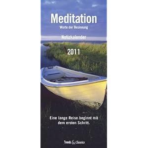 eBook Cover für  Meditation 2011 Trends amp Classics Notizkalender Worte der Besinnung