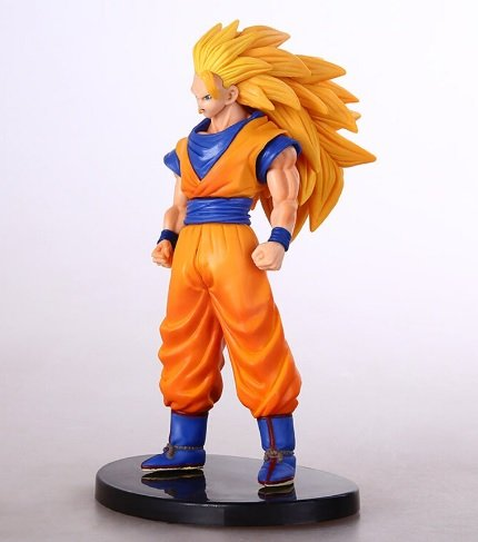 [Anime Dragon Ball Z Action Figure Goku Super Saiyan 3 Son Goku PVC Dragon Ball Z Action Figures Collectible Toy] (Android 17 And 18 Costumes)