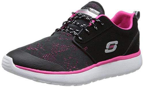 Skechers Counterpart - zapatilla deportiva de material sintético mujer, color negro, talla 37