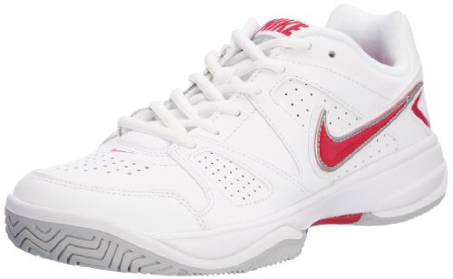 NIKE City Court VII Ladies Tennis Shoes, White/Pink, UK6.5