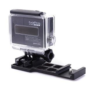 XCSOURCE® NOUVEAU CNC de haute qualité en aluminium Picatinny Weaver de 20mm pistolet rail latéral 20mm fixation latéral pour GoPro HD HERO 2 3 3+ 4 Caméra Noir OS68