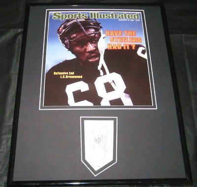 LC GREENWOOD STEELERS SIGNED FRAMED PHOTO 11X14 JSA at Amazon.com