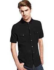 Autograph Pure Cotton Slim Fit Shirt