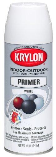 Krylon 51315 All-Purpose White Interior and Exterior Decorator Primer - 12 oz. Aerosol