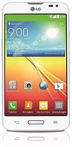 LG L70 Smartphone (11,4 cm (4,5 Zoll) Touchscreen, 1GB RAM, 4GB Flash-Speicher, 5 Megapixel Kamera, Android 4.4) weiß