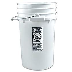 7 Gallon White Bucket