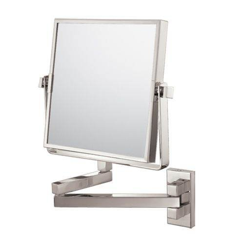 Kimball & Young Square Double Arm Wall Mirror - Brushed Nickel Model No. 24073 front-723424