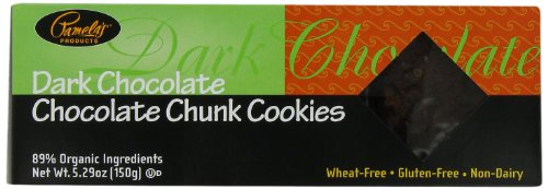 Pamela's Products Dark Chocolate-Chocolate Chunk Cookies, 5.29-Ounce Boxes (Pack of 6)
