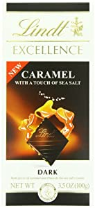 Lindt Excellence Caramel with a Touch of Sea Salt Chocolate Bar, 3.5 Ounce (Pack of 12)