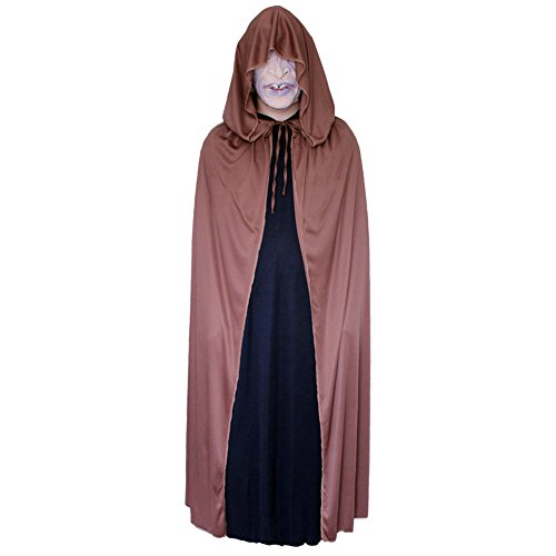 "54"" Brown Cloak with Large Hood ~ Halloween Costume Cape (STC11572)"