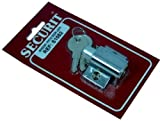 Chrome Window / Patio door lock with 2 keys and screws