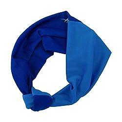 Blue Knotted 2 Colors Headwrap Turban Boho Fashion Headwrap (Motique Accessories)