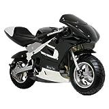 MotoTec Pocket Motorcycle Color: Black