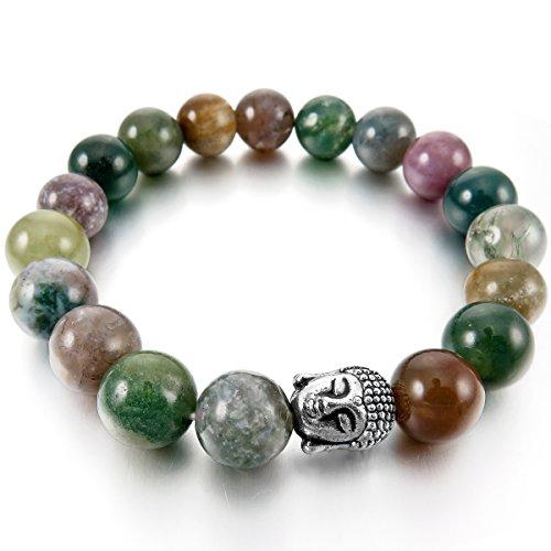 munkimix-10mm-alliage-bracelets-denergie-lien-poignet-pierre-denergie-vert-argent-inde-indian-agate-