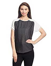 Madame Women's Body Blouse Top (M1518535_Off-White_X-Large)