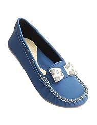 Verona Women's Casuals Blue Ballerinas - B014JCUBTE