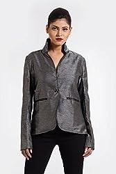 Fbbic Women's Short Coat (15030_Small_Grey)