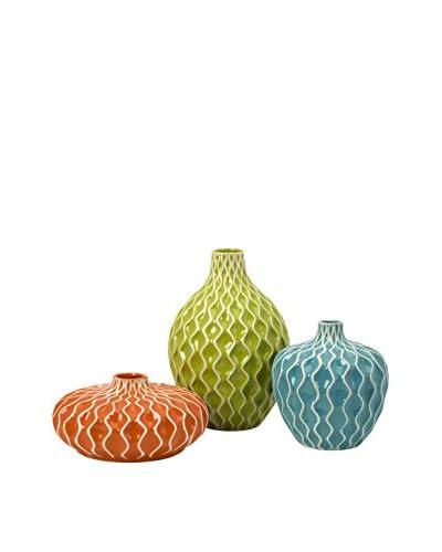 Set of 3 Agatha Ceramic Vases