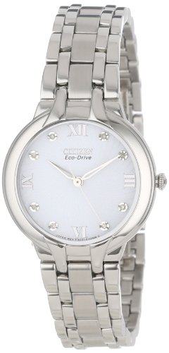Citizen Women'S Em0130-54A Eco-Drive Bella Diamond-Accented Bracelet Watch