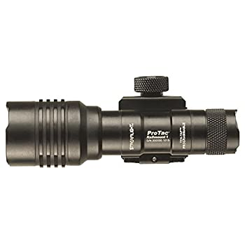 Streamlight 88058 ProTac Rail Mount 1 350 Lumen Professional Tactical Flashlight with High/Low/Strobe use 1x CR123A, 1x AA or 1x AA Li-iON Batteries